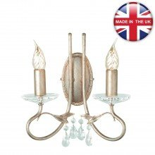 Elstead - Christina CRT2-SILVER-GOLD Wall Light