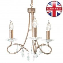 Elstead - Christina CRT3-SILVER-GOLD Chandelier