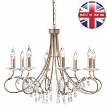 Elstead - Christina CRT8-SILVER-GOLD Chandelier