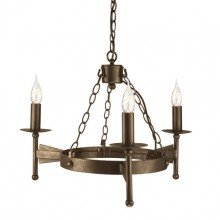 Elstead - Cromwell CW3-OLD-BRZ Chandelier