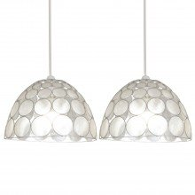 Set of 2 Capiz Jewelled Easy Fit Light Shades