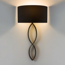 Astro Lighting - Caserta 1349010 & 5026002 - Bronze Wall Light with Black Shade