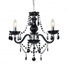 Black and Chrome Marie Therese Style 3 x 40W Chandelier