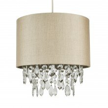 Pale Gold 250mm Easy Fit Shade with Matching Inner and Clear Droplets