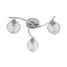 3 Light Swirl Twist Fitting with Metal Spiral Shades