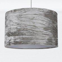 Grey Crushed Velvet Easy Fit Light Shade