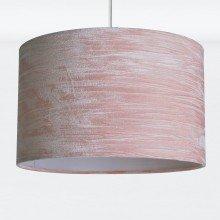 Blush Pink Crushed Velvet Easy Fit Light Shade