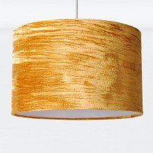 Gold Crushed Velvet Easy Fit Light Shade