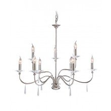 Elstead - Finsbury Park FP9-POL-NICKEL Chandelier