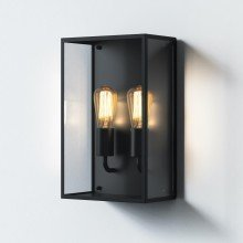 Astro Lighting - Messina Twin 1183027 - IP44 Textured Black Wall Light
