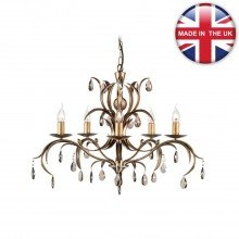 Elstead - Lily LL5-ANT-BRZ Chandelier