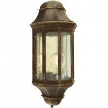Elstead - Norlys - Malaga M8-BLK-GOLD Half Lantern
