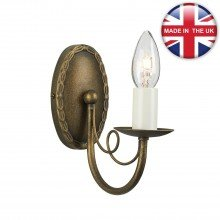 Elstead - Minster MN1-BLK-GOLD Wall Light