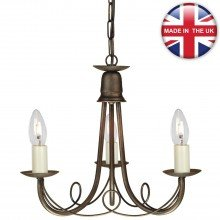 Elstead - Minster MN3-BLK-GOLD Chandelier