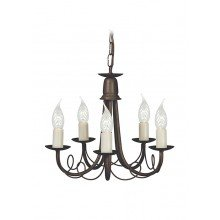 Elstead - Minster MN5-BLK-GOLD Chandelier
