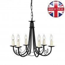 Elstead - Minster MN6-BLACK Chandelier