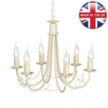 Elstead - Minster MN6-IV-GOLD Chandelier