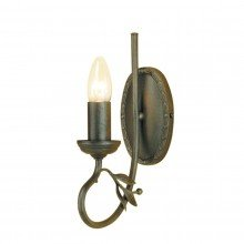 Elstead - Olivia OV1-BLK-GOLD Wall Light