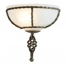 Elstead - Pembroke PB-WU-BLK-GOLD Wall Light