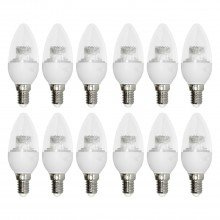 Set of 12 x 3.3W LED E14 Candle Light Bulbs