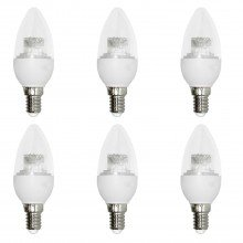 Set of 6 x 3.3W LED E14 Candle Light Bulbs