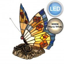 Elstead - Quoizel - Tiffany Animal Lamps QZ-OBUTTERFLY-TL Table Lamp