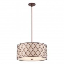 Elstead - Quoizel - Brown Lattice QZ-BROWN-LATTICE-P-L Pendant