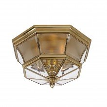 Elstead - Quoizel - Newbury QZ-NEWBURY-F-PB Flush Light