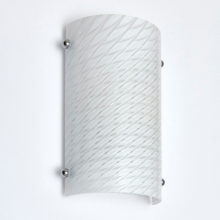 Opal Ribbed Glass 40W Wall Light