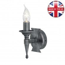 Elstead - Saxon SAX1-BLK-SIL Wall Light