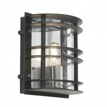 Elstead - Norlys - Stockholm ST-FLU-E27-BLK-C Bulkhead Wall Light