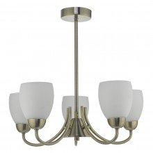 Antique Brass 5 Light Fitting