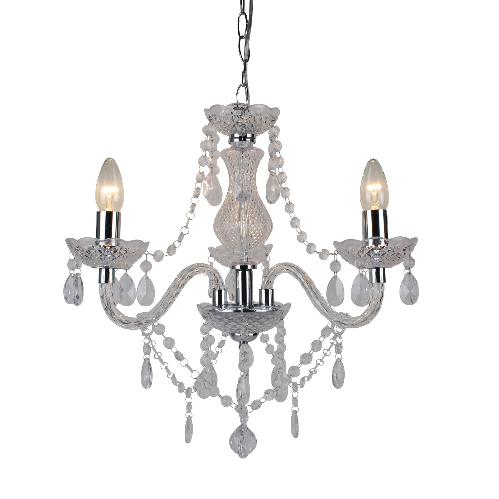 thumbnail 15 - Marie Therese 2, 3 & 5 Ceiling Light Acrylic Chandelier & Wall Clear Black