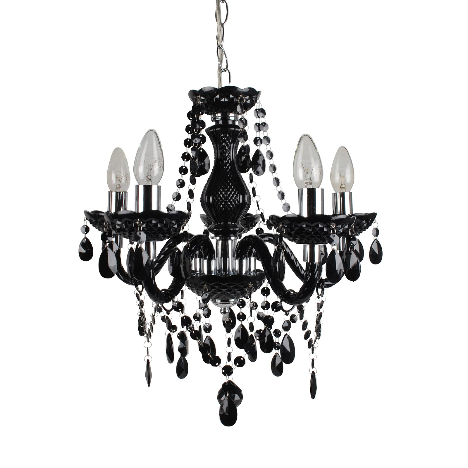 thumbnail 19 - Marie Therese 2, 3 & 5 Ceiling Light Acrylic Chandelier & Wall Clear Black