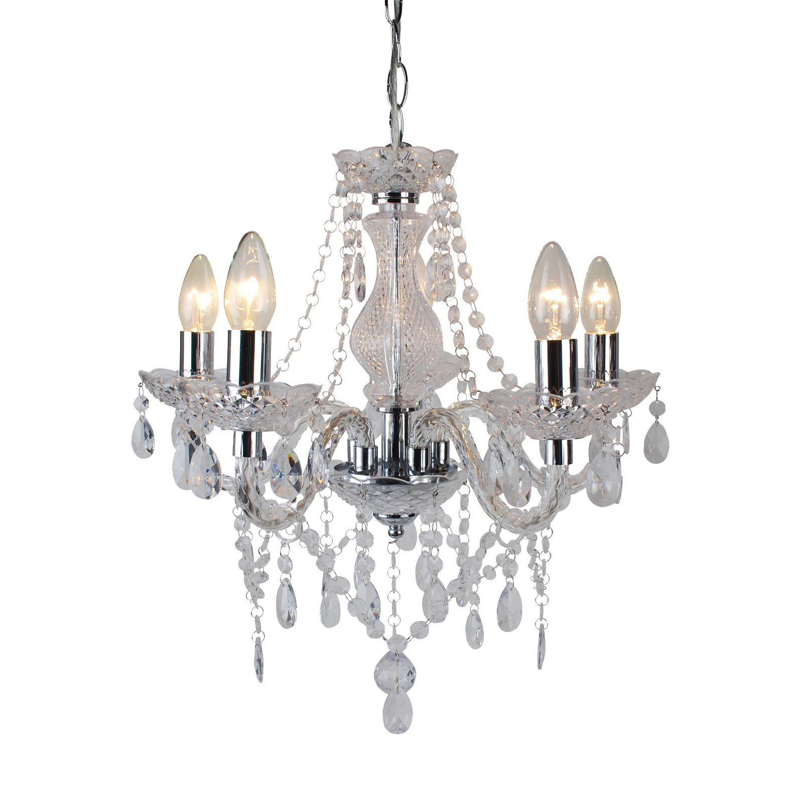 thumbnail 23 - Marie Therese 2, 3 & 5 Ceiling Light Acrylic Chandelier & Wall Clear Black